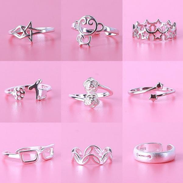 日韩潮纯银戒指