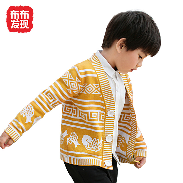 布布发现童装男童长袖毛衣针织