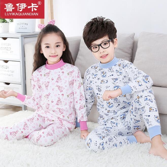 儿童纯棉秋衣秋裤童装