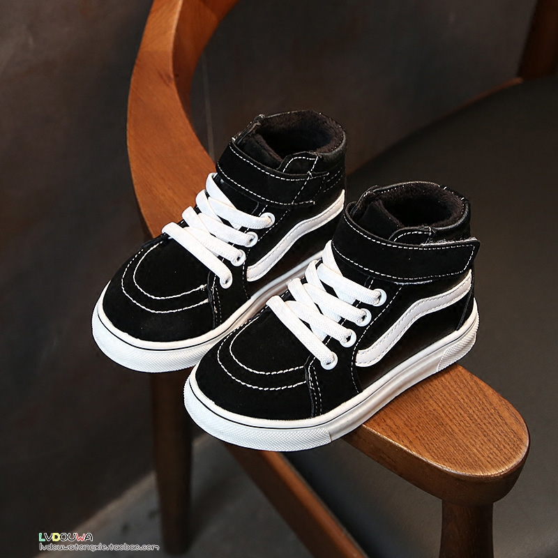 冬加绒儿童运动鞋